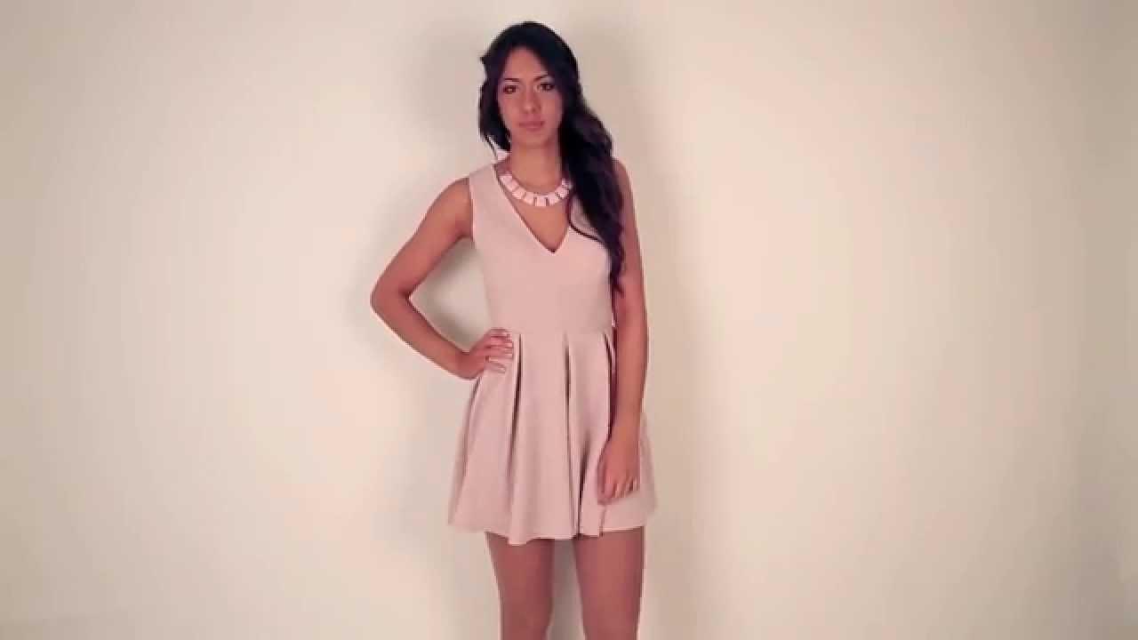 Moda online:Vestido rosa palo Janette - YouTube