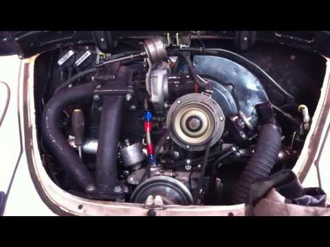 Steve's new 2232 Turbo EFI VW Bug motor starts first time May 31 - June 20, 2011