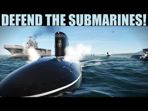 DCS 2.5   FRANTIC Mission To Protect Submarines Leads To Multiple Dogfights