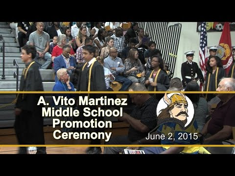 A Vito Martinez Middle School 8th Grade Promotion Ceremony 2015