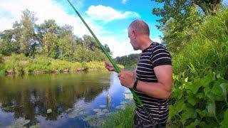 Рыбалка на реке на поплавок Ловля рыбы 6 июля 2021