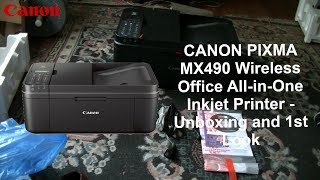 CANON PIXMA MX490 Wireless Office All-in-One Inkjet Printer - Unboxing and 1st Look