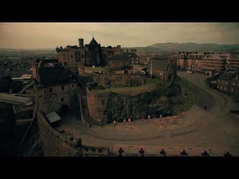 Edinburgh - Scotland - Edinburgh Castle from the  Sky