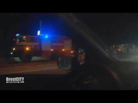 Брест. Авария на мосту по ул.28 Июля (03.04.2019)