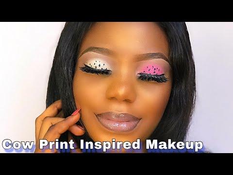 doja cat cow girl inspired makeup tutorial dojacat