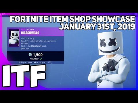 Fortnite Item Shop *NEW* MARSHMELLO SKIN AND SET!! [January 31st, 2019] (Fortnite Battle Royale) thumbnail