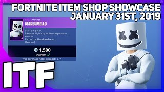 Fortnite Item Shop *NEW* MARSHMELLO SKIN AND SET!! [January 31st, 2019] (Fortnite Battle Royale)