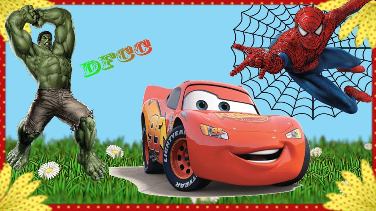 Disney coloring pages spiderman - Disney Pixar Cars Spider Man Vs Hulk Coloring Pages Drawing Pictures Dfcc