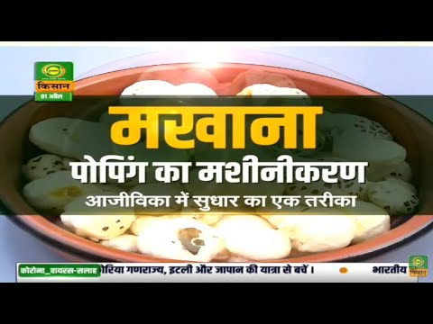 Krishi Darshan - Episode on mechanizing Makhana popping and marigold farming