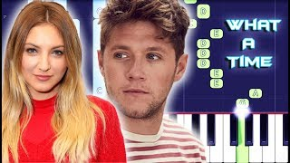 Julia Michaels - What A Time ft. Niall Horan Piano Tutorial EASY (Piano Cover)