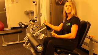 How to use the Precor Leg Extension / Leg Curl