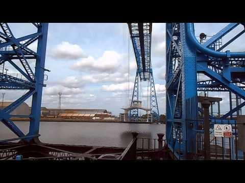 Tees (Middlesbrough) Transporter Bridge Video 1