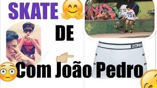 SKATE COM O JOÃO PEDRO ( MC JP ) ANDANDO DE CUECA