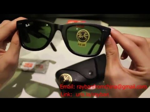 replica ray bans  Replica Ray Ban Wayfarer Unboxing 2016 - YouTube
