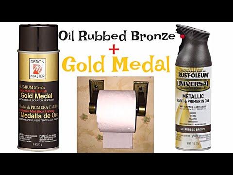 Design House Oak Toilet Paper Holder Rustoleum Oil Rubbed Bronze