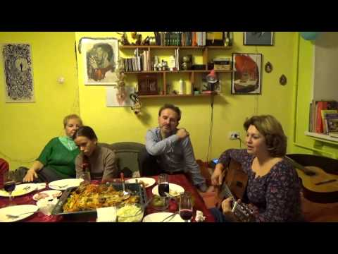 песня Подарок, автор Юлия Левашова, посиделки на юбилее Вадима Левашова