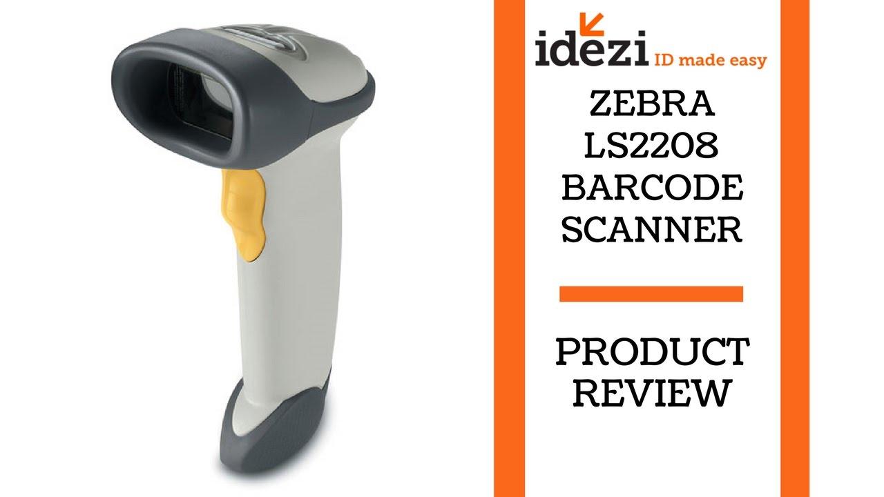 Zebra Ls2208 Barcode Scanner Idezi Id Made Easy Youtube