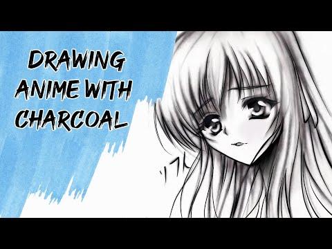 Anime Drawing Charcoal Art