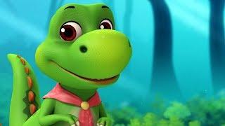 Dinosaurs Animal Rhymes | Telugu Rhymes for Children | Infobells