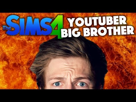 CASPAR SET THE HOUSE ON FIRE | YouTuber Big Brother | Sims 4