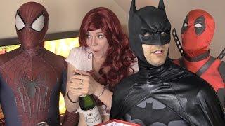 Spider-Man Batman Deadpool New Year's Party