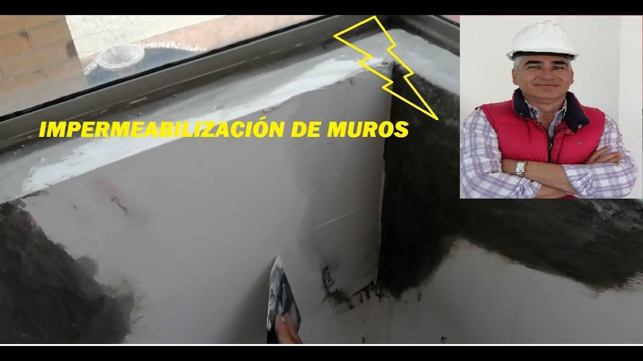 IMPERMEABILIZACION DE MUROS INTERIOR