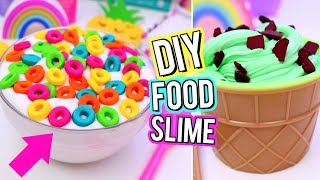 DIY Food Inspired SLIME! Crazy SLIME IDEAS You NEED TO TRY! How To Make FUN SLIME!