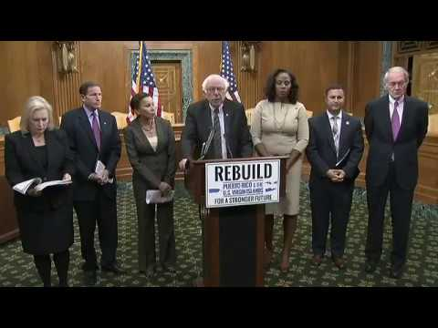 Bernie Sanders introduces bill to rebuild from American crisis in Puerto Rico & the Virgin Islands