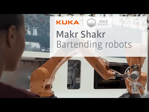 A Rooftop Robot Bartender In Milan Dolce Vita By Kuka And Makr Shakr