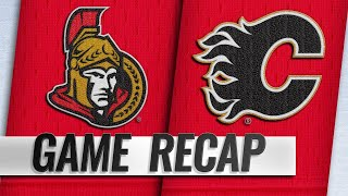 Flames beat Senators for fifth straight home win