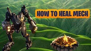 FORTNITE HOW TO MECH REPAIR SECRET HEALING FIX HEAL MECH GAMEPLAY SEASON X
