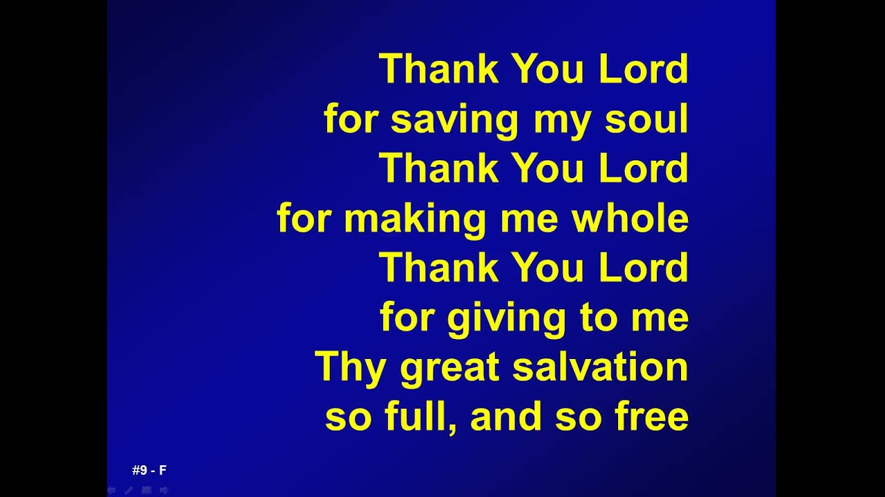 Thank You Lord For Saving My Soul