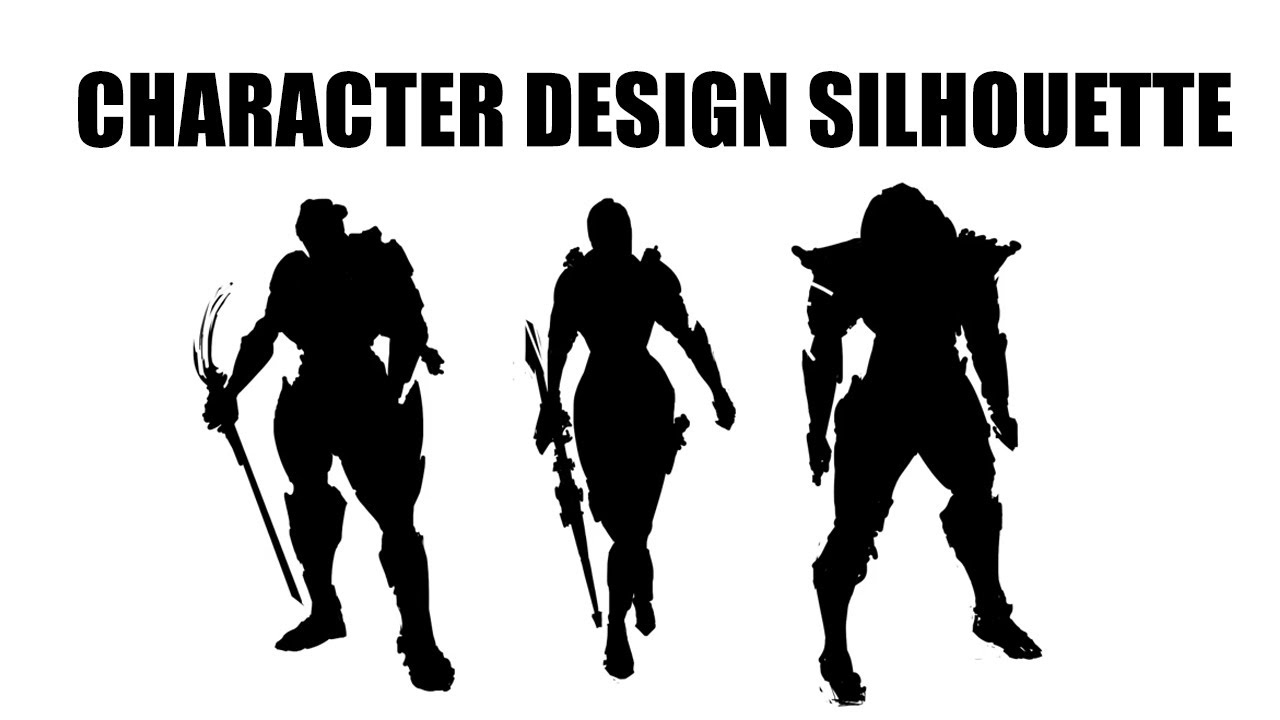 Character Design Silhouette Tutorial : Character design silhouette part youtube