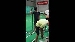 Nâng cấp sân thảm Clb cầu lông Phùng Xá chuẩn bị giải đấu 2/9/2018