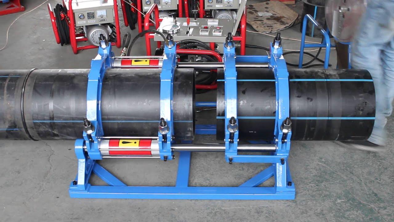 Hdpe butt fusion machine operation funcionamiento