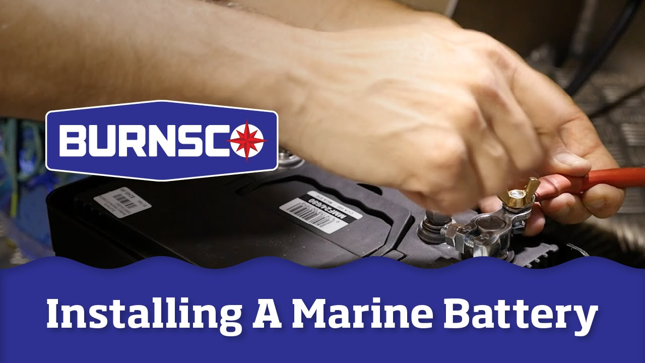 How To Install A Marine Battery In Your Boat Youtube Mercury Wiring Harness