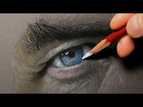 PHOTO REALISTIC EYE DRAWING WITH PENCILS.