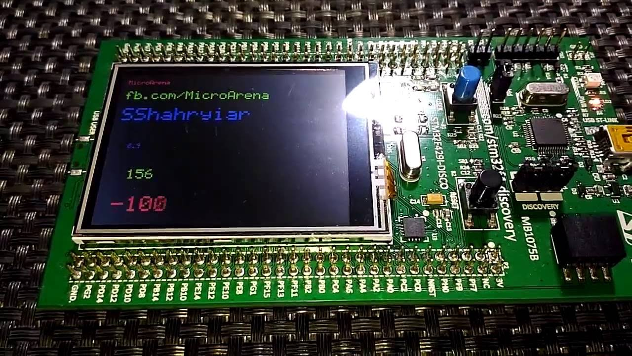 STM32F429ZI Discovery ILI9341 TFT Display + STMPE811 Touch Controller Test  Demo