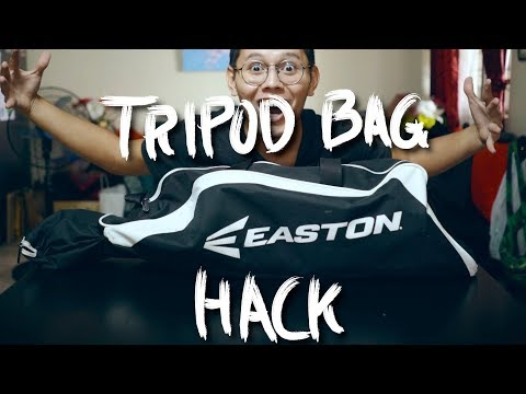 $20 TRIPOD BAG Hack (How to travel with tripods)