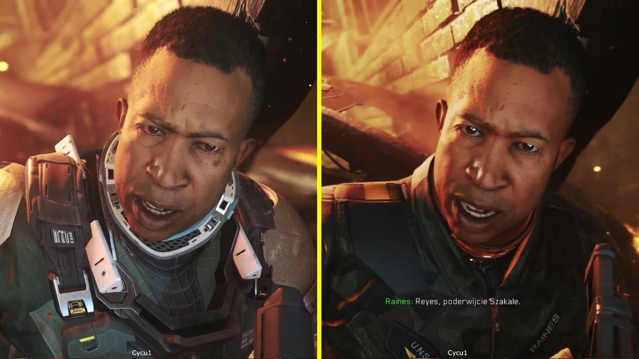 Call Of Duty Infinite Warfare Ps4 Demo Vs Retail Graphics Comparison Youtube