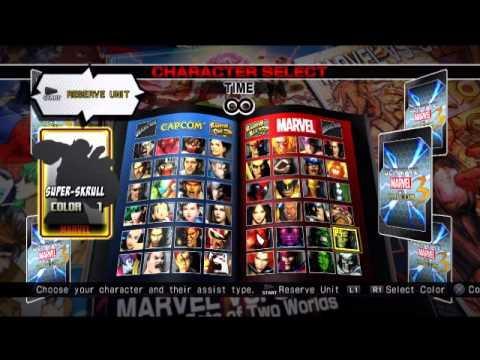 Ultimate Marvel vs Capcom 3 COMPLETE 48 Character Roster