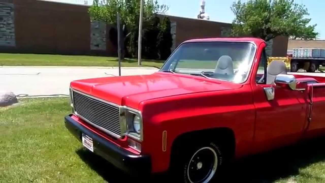 1975 CHEVROLET SIERRA CLASSIC CUSTOM PICK UP-CONVERTIBLE-SUMMER FUN-FOR SALE