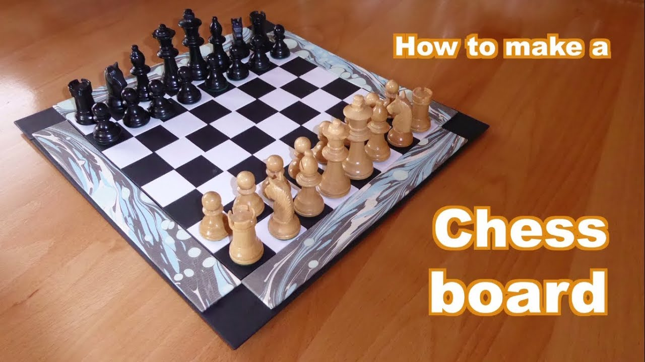 How To Make A Chessboard From Cardboard And Paper