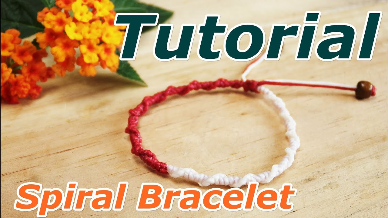 How to make a macrame spiral knot bracelet - YouTube 86206d4664e