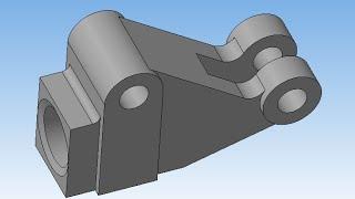 Рычаг. Компас 3D v16. Простые детали