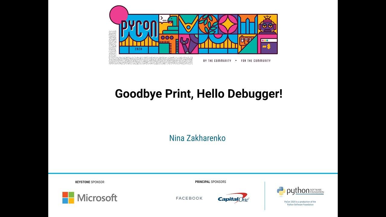 Image from Goodbye Print, Hello Debugger!