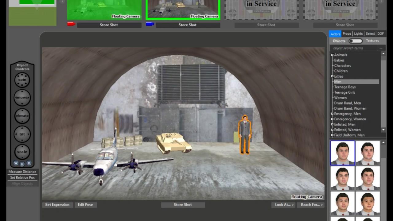 FrameForge 4 | Green Screens | Storyboard Software - YouTube