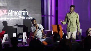 Poem with singing | Ahmed Larry &Mogtba Grjah | TEDxAlmogran