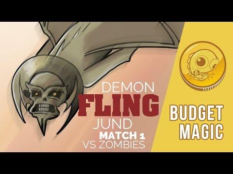 Budget Magic: Demon Fling Jund vs Zombies (Match 1)