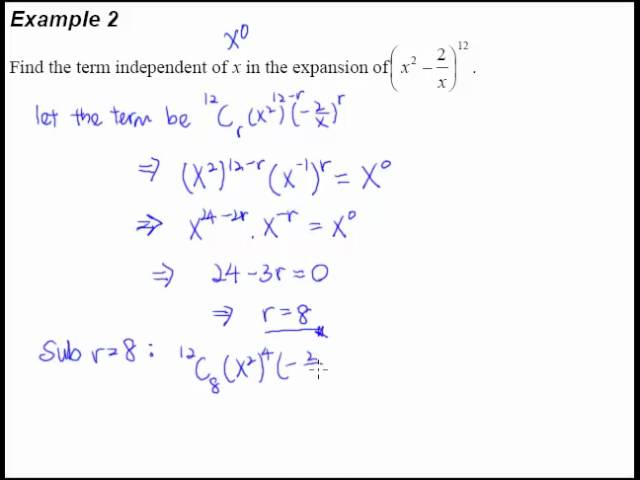 6 Binomial Theorem Example 2 Finding The Term Independent Of X